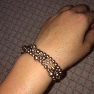 Jcrew layered bubble bracelet